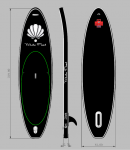 White Pearl - World Line 3,19 - 10.6'' Allround inflatable SUP