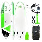 "SeaLion XL 10'6"" Standup Paddel Board Aufblasbar 320 x86 x15cm (Grün)"