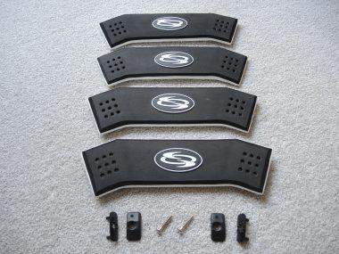 EVA Fußschlaufe Schwarz / Weiß | 1 Stck. | + 2 Plugs + 2 Schrauben