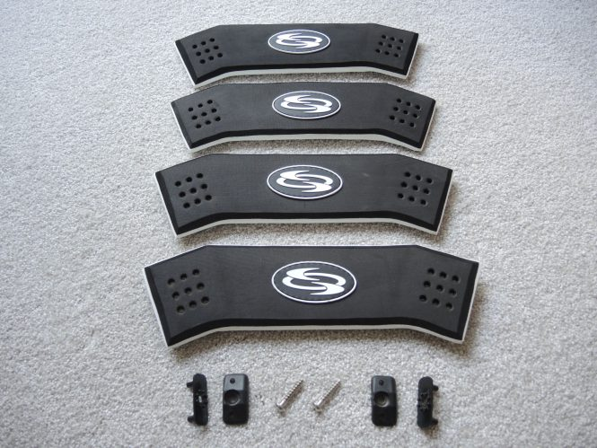 Fußschlaufe EVA 3D Kompl. incl. Plugs &. Schrauben